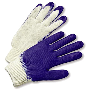 Blue Latex Coated Knit Gloves - Large [Bulk Pack - 12 Pairs]