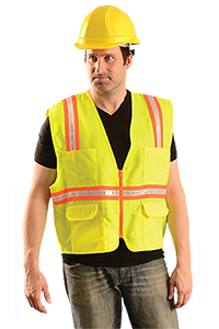 Classic Solid Two-Tone Surveyor Vest - Yellow L
