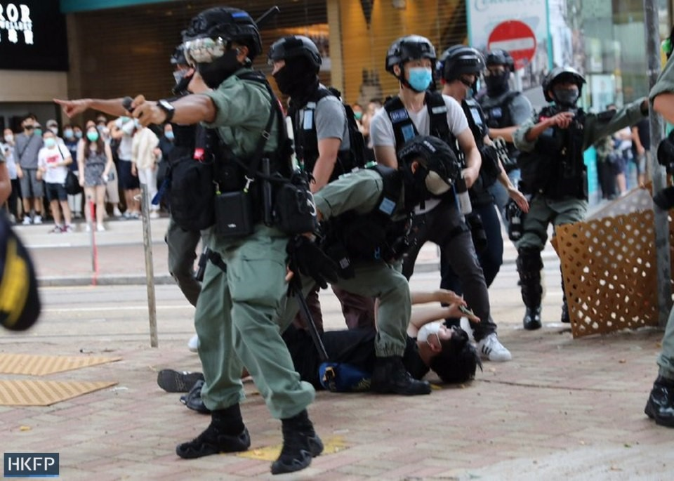 arrested police protest march five demands 1 July 2020 causeway bay