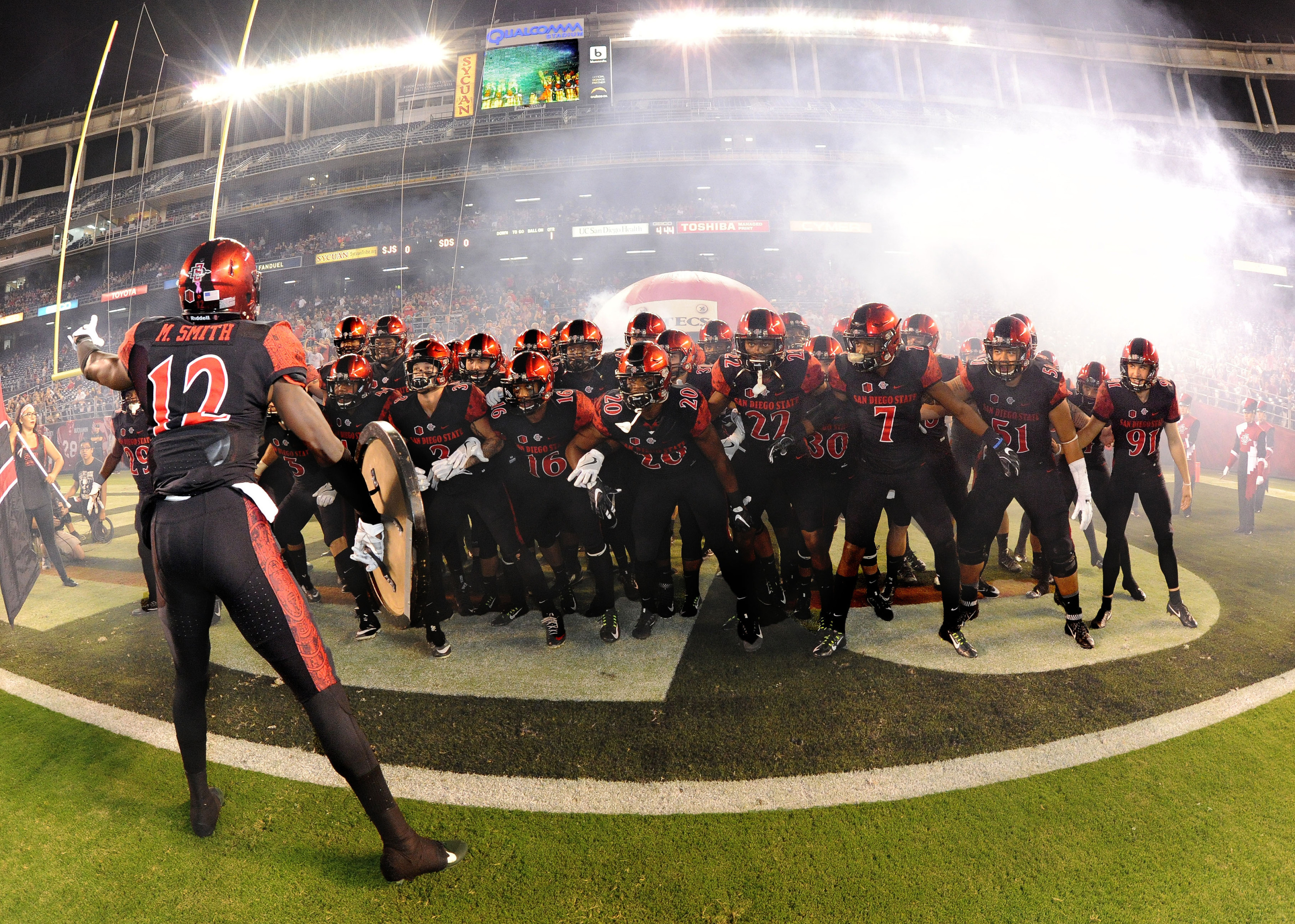 The Aztecs travel to Utah state for their third straight Friday game.