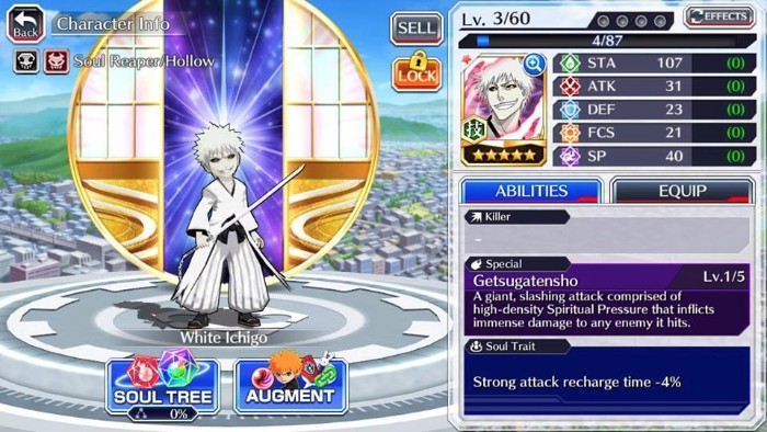 White Ichigo - Bleach Mobile Game