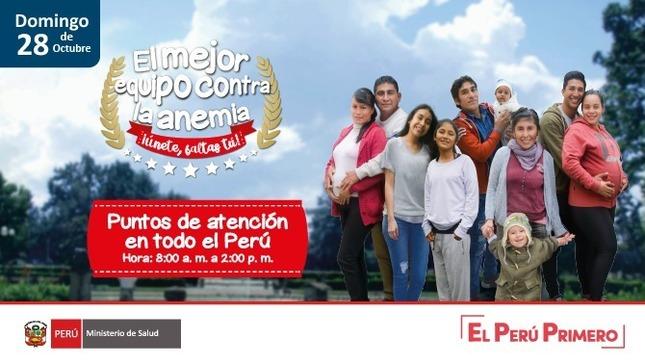 Campaign sexta jornada nacional contra la anemia
