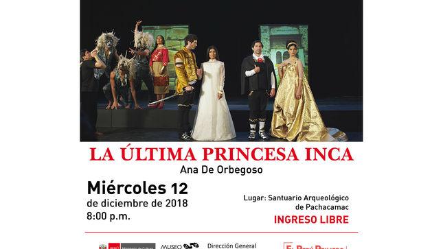 """Proyectarán video arte """"La Última Princesa Inca"""" sobre pirámides de Pachacamac"""