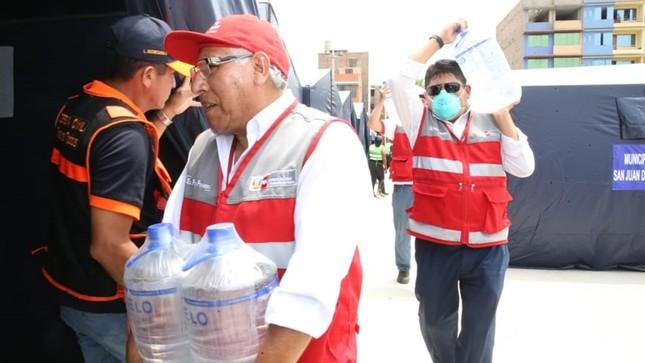 MTPE continúa apoyando a población afectada por aniego en San Juan de Lurigancho