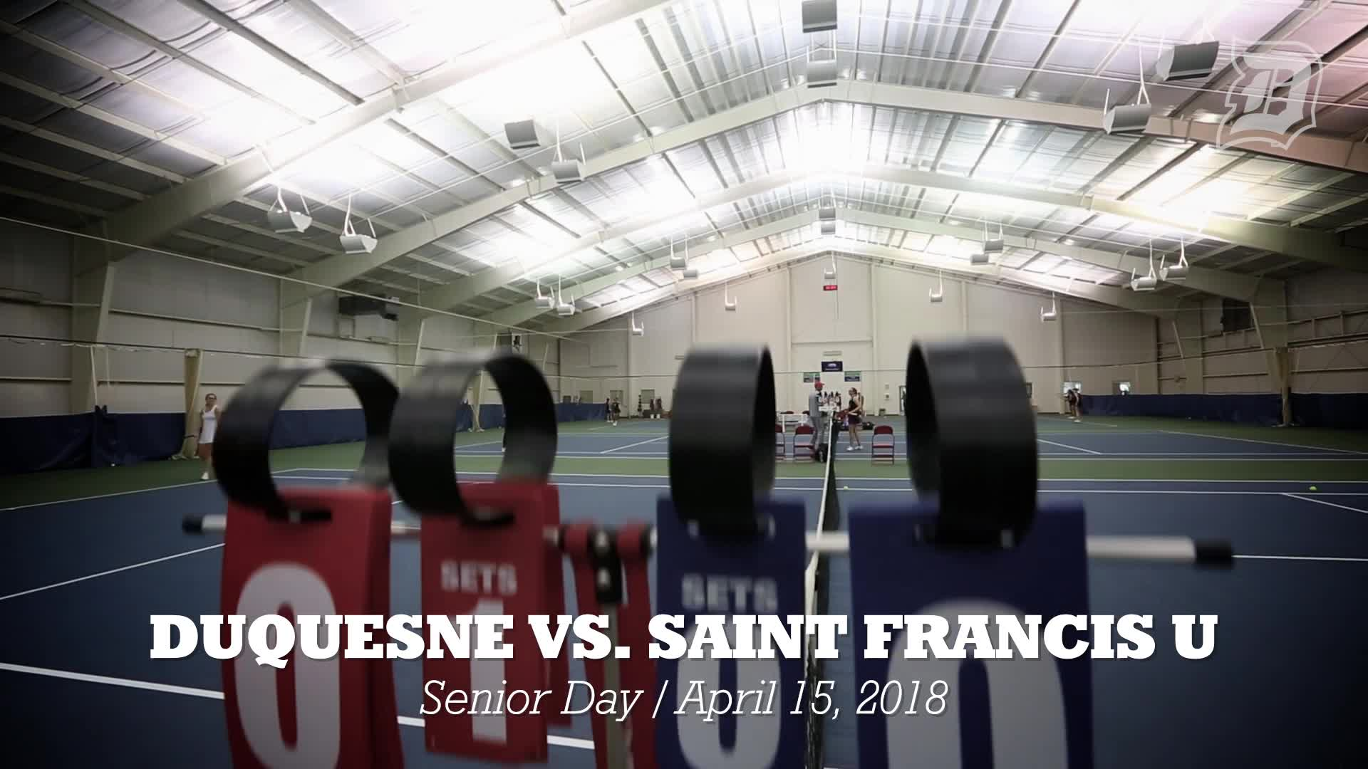 Sights & Sounds of Duquesne Tennis Senior Day