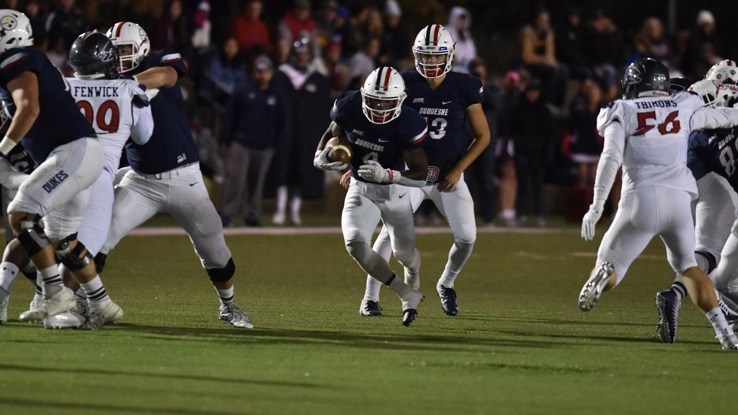 @DuqFB Runs Wild in Win Over Robert Morris