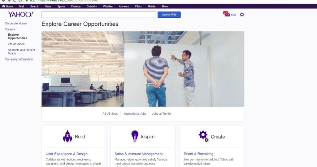 Yahoo找工作