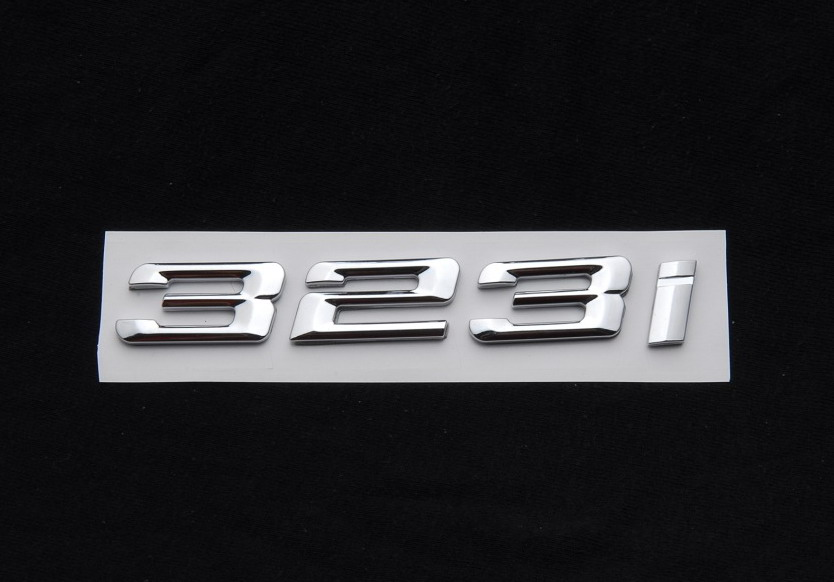 Matte Black Trunk Rear Emblem Badgel Letters 320i for BMW E46 E90 F30 3-Series