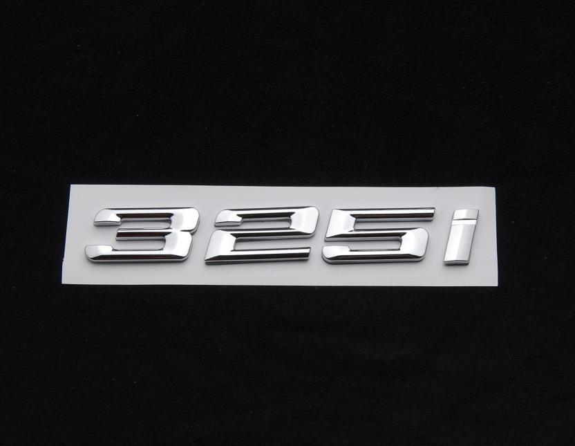 Trunk Lid Emblem Badge Real Carbon Fiber Letters 325Xi for BMW E46 E92 E90 F30