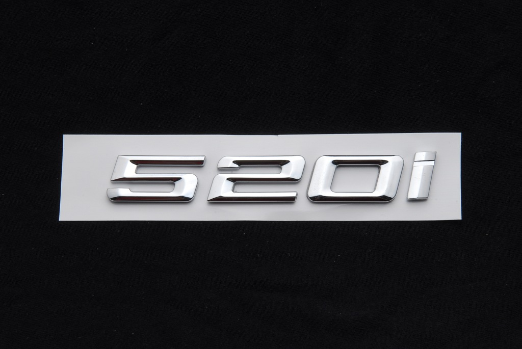 CHROME BMW 520D REAR BOOT TRUNK LETTER EMBLEM BADGE FOR 5 SERIES E60 E61 F10 F11