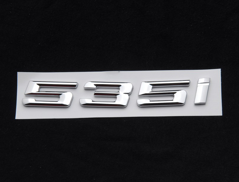 Trunk Letters Badge Emblem Chrome Letters 535i For BMW 5-Series E60 F10