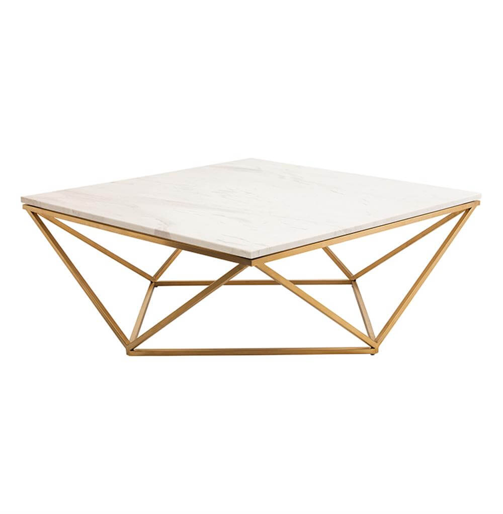 Tintern Coffee Table (Gold, Marble)