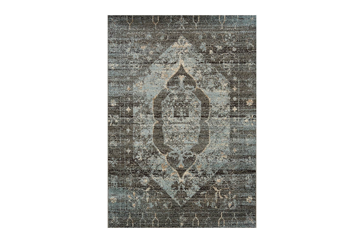 Casa Blue Grey Transitional 5x8' Rug