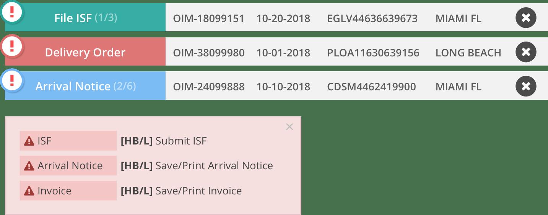 feature shipment memo