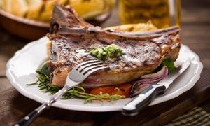 Menu con fino a 2,4 kg di Fiorentina con vino per 2 o 4 persone all'Osteria Il Piacere (sconto fino a 57%)