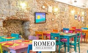 Menu pizza con tartare e pizza classica o gourmet al bistrot Romeo Antipasteria (sconto fino a 68%)