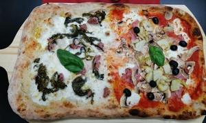 Menu con pizza a scelta e bevanda per una, 2 o 4 persone con Biancaneve Pizzeria. Consegna gratuita a domicilio