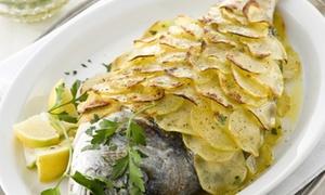 Menu di mare con dessert e vino per 2 persone al Ristorante da Clara, dal 1950 (sconto 64%)