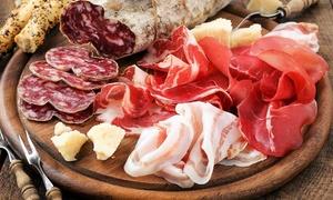 Menu tipico toscano di 3 o di 4 portate con dolce e calice di vino per 2 persone alla Prosciutteria (sconto fino a 55%)