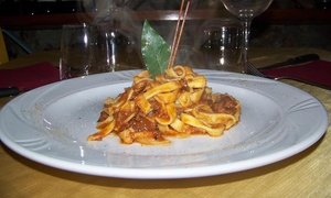 ⏰ Menu di carne da 3 o 4 portate con dolce e calice di vino all'Osteria dei Mercanti. Prenota&Vai!