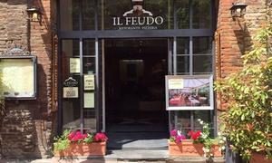 Un menu di 3 o 4 portate con calice di vino per 2 persone al ristorante Il Feudo San Gimignano (sconto fino a 68%)