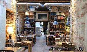 Menu con portate della tradizione Toscana e bottiglia di vino per 2 persone da Piazza del Vino (sconto fino a 62%)