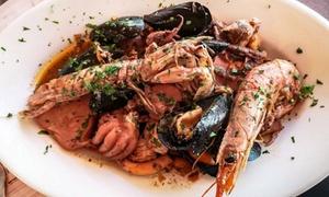 Menu di mare con vino e dolce per 2 persone al Ristorante Pizzeria Il Voltone (sconto fino a 53%)