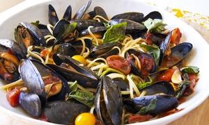 Menu di pesce con bottiglia di vino per 2, 4 o 6 persone da Ristorante Nappino (sconto fino a 57%)