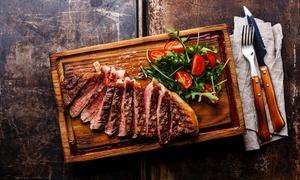 Menu con stinco, tagliata o bistecca più calice di vino per 2 persone all''Osteria la Mattonella