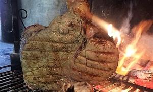 Meni 1 kg di carne con dolce e calice o bottiglia di vino per 2 persone alla Trattoria dell'Osteria Bianca (sconto 53%)