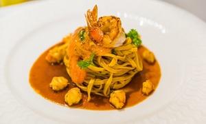 Menu gourmet di terra o mare da 6 portate e 3 calici di vino al Gran Caffè San Marco (sconto fino a 56%)