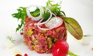 Aperitartare con calice di vino a scelta e cena da asporto o da consumare al locale da La Bottega Della Carne