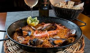 Menu di mare con paella e vino per 2 o 4 persone al ristorante Il Girasol (sconto 38%)