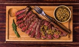 Menu con 1 kg di carne, dolce e vino per 2 persone al ristorante Enjoy Park (sconto fino a 58%)