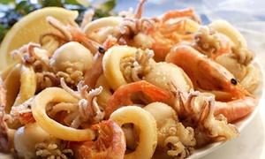 ⏰ 1 kg frittura di mare e vino per 2 persone, ristorante Smoove, terrazza vista mare (sconto fino a 66%). Prenota & Vai!