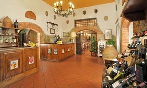 Menu con antipasto toscano, bistecca di Fassona e vino al ristorante Fattoria degli Usignoli (sconto fino a 52%)