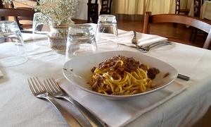 Menu Gourmet con tartufo nero fino a 4 portate per 2 persone al ristorante La Capannina Sul Lago (sconto fino a 56%)