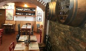 Cena o pranzo in Enoteca con coccoli, tartare, filetti, 1,2kg di Fiorentina, dolce, vino per 2 persone