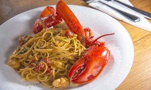Linguine al granchio reale, 900gr pescato del giorno, dolce e vino al ristorante Portico 91 (sconto fino a 53%)