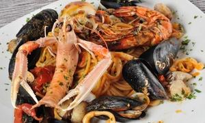 Menu di pesce con dolce e vino per 2 persone al Ristorante Vecchie Ghiacciaie (sconto 62%)