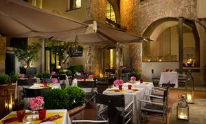 Menu toscano Gourmet con vino in antica torre bizantina, vicino Duomo, all'Osteria della Pagliazza (sconto fino a 67%)