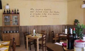 Menu mare da 3 portate con calice di vino per 2 persone all'Osteria Il Pentolino (sconto fino a 68%)