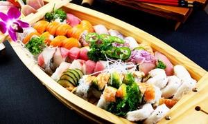 Cena giapponese con barca di sushi, gelato e bottiglia di vino al ristorante Nagoya a Prato (sconto fino a 72%)