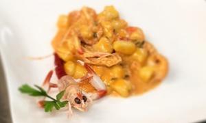 Menu di pesce da 3 o 4 portate più dolce e vino per 2 persone al ristorante Rossomare (sconto fino a 56%)