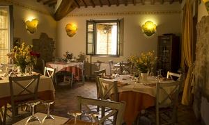 Menu di pesce di 4 portate con dolce e calice di vino per 2 persone al Ristorante Il Borghetto (sconto 54%)
