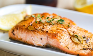 Menu gourmet di mare con dolce e vino per 2 o 4 persone al Ristorante Niky, a Massa Marittima (sconto fino a 58%)