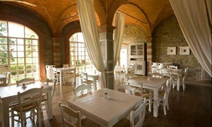 Degustazione di 4 vini biologici abbinati a prodotti locali per 2 o 4 persone al Ristorante Villa Cassia Di Baccano