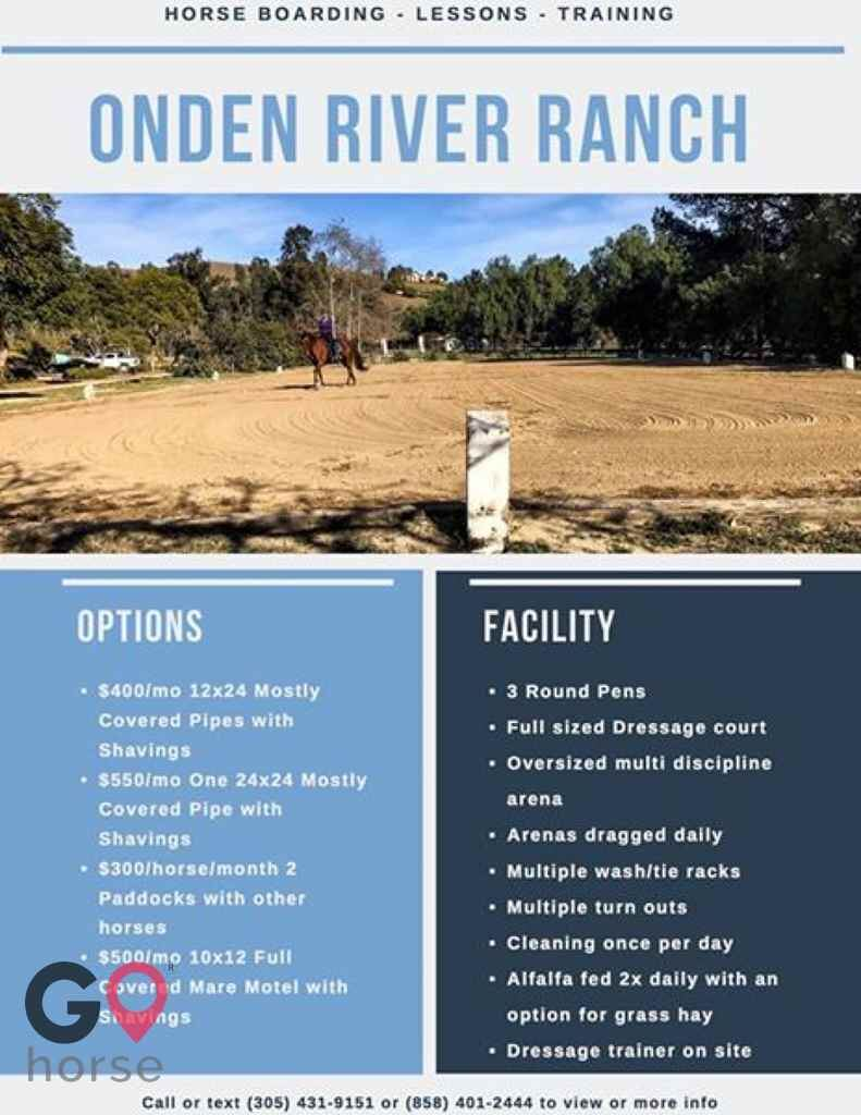Blue Rose Equestrian @ Onden River Ranch Horse stables in Moorpark CA 2