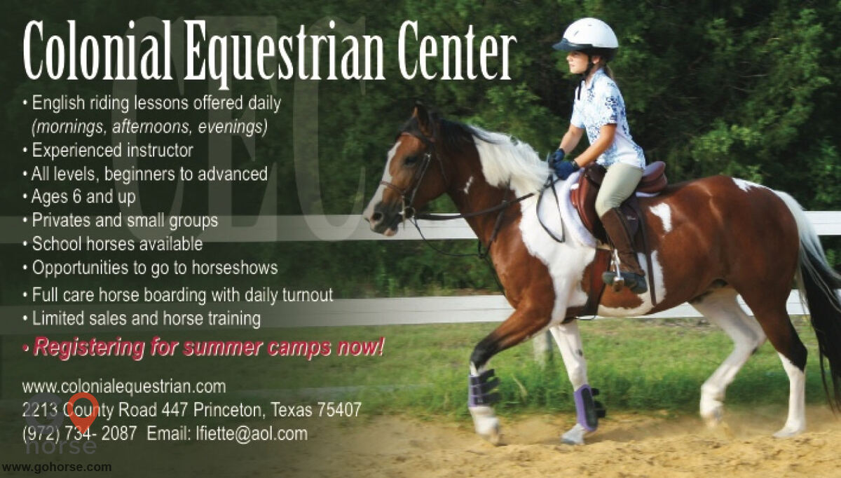 Colonial Equestrian Center Horse stables in Princeton TX 1