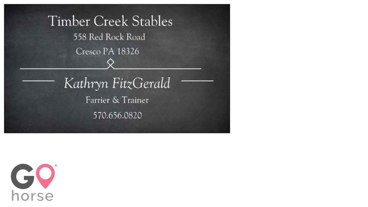Timber Creek Stables Farrier in Cresco PA 11